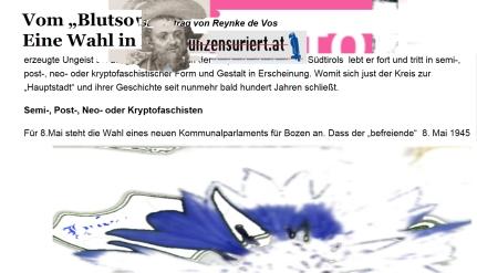 Recht extrem geliebte Anführungszeichen der Kornblumenpartei in Österreich - Mai 2016