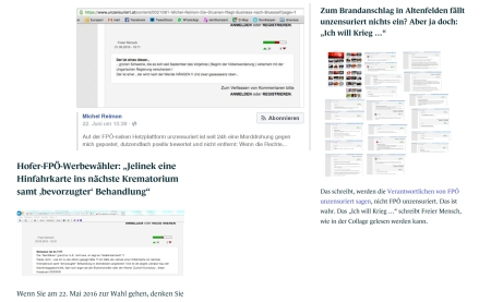 FPÖ unzensuriert freier mensch - michel reimon - elfirede jelinek