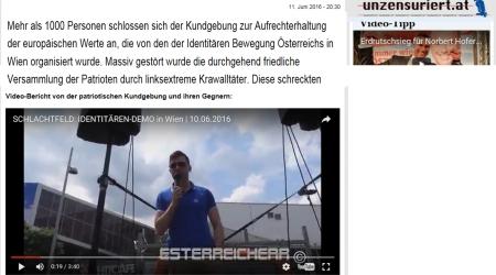 Identitäre für Hofer-FPÖ unzensuriert Patrioten