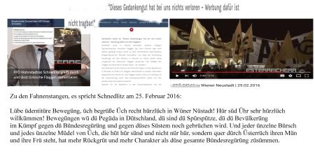 FPÖ Identitäre Parlamentspartei Michael Schnedlitz  Gedankengut nichts verloren - Werbung dafür nicht tragbar