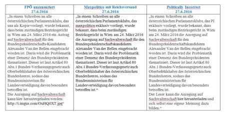 FPÖ unzensuriert - PI-News - Maxpolitico 27-06-2016 Konzentrierte Verleumdungsaktion