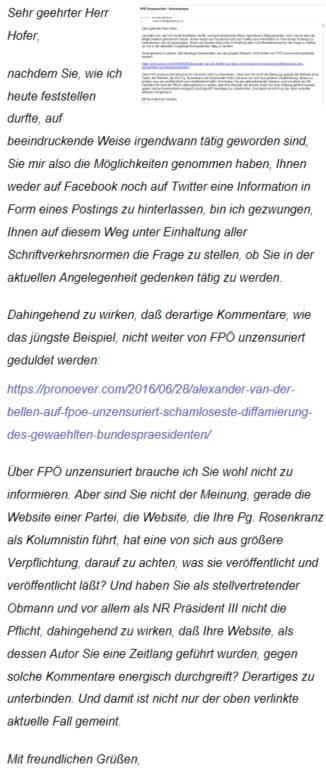 Norbert Hofer - Schreiben 29-06-2016 betreffend FPÖ unzensuriert.jpg