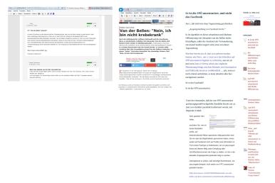 Unterstützung von nicht sozialen Netzwerken für Hofer-FPÖ