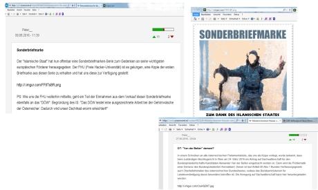 IS-Sonderbriefmarke zum Dank auf FPÖ unzensuriert
