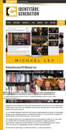 Michael Ley und identitäre Parlamentsparrtei