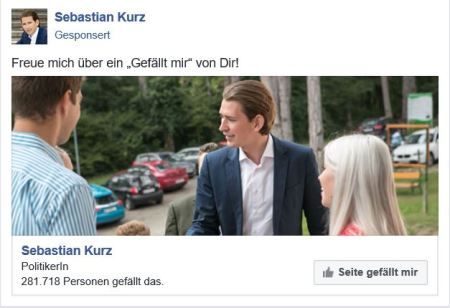 Sebastian Kurz - Facebook Werbung