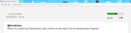Hofer FPÖ unzensuriert Kornblume bekennender Rassist 5 September 2016