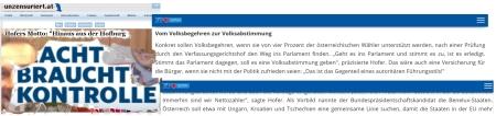 Motto für Norbert Hofer - Hinaus aus der Hofburg - Acht braucht Kontrolle