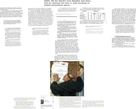 Anschlag mit Thesen - Luther - Portschy