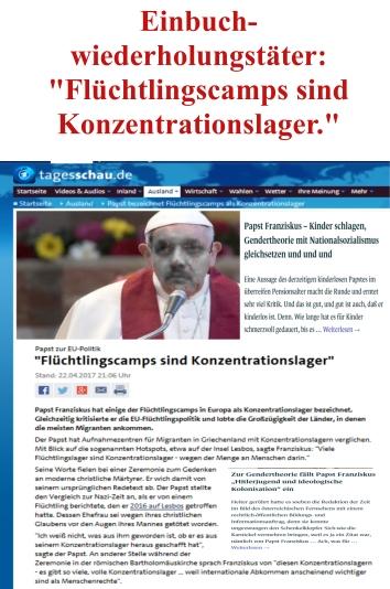 Papst Franziskus - Flüchtlingscamps