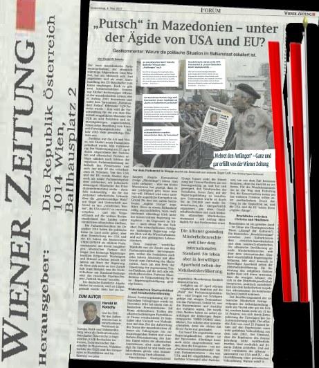 Österreich Republik Herausgeberin Wiener Zeitung Kotschy