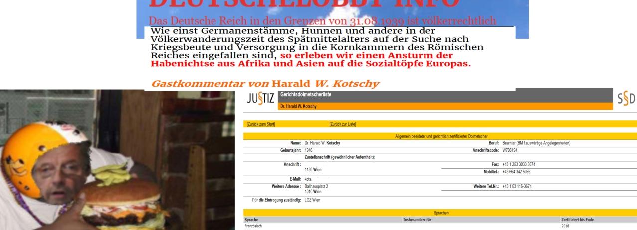 Harald W Kotschy bis 2018 zertifizierter Gerichtsdolmetscher