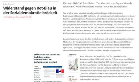 SPÖ arbeitet Kritierienkatalog ab zum Erhörtwerden von FPÖ