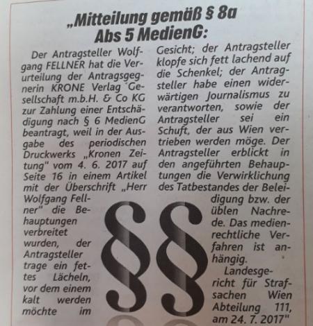 Herr Wolfgang Fellner - Beweis für die Wiedergeburt