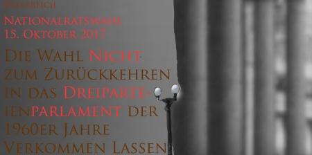 Nationalratswahl15-10-2017 Österreich nicht Rückwahl zur Dreiparteiendemokratie 1960er Jahre