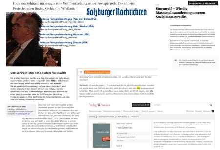 Salzburger Festreden - Clark - Liessmann - Safranski - Schirach