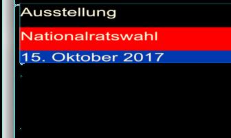 Ausstellung Nationalratswahl Östereich - 15-10-2017