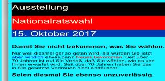 Ausstellung Nationalratswahl Östereich - Damit Sie nicht bekommen was Sie wählen