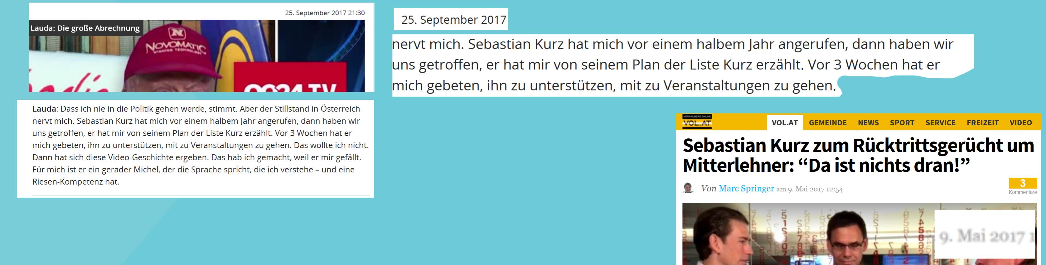 In den Iden des März war Millionär von Sebastian Kurz eingeweiht in den Plan Liste Kurz