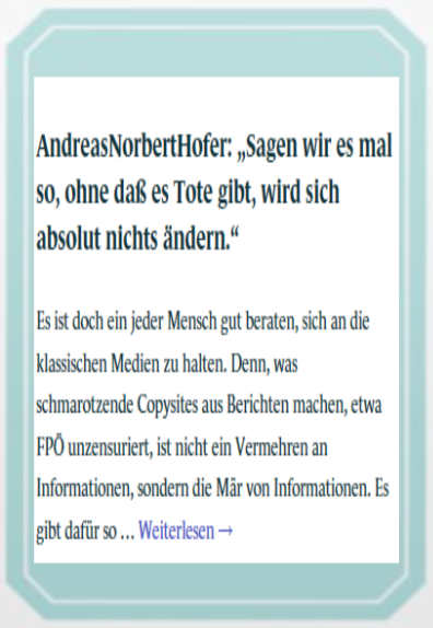 Wahlkarte - Andreas Norbert Hofer