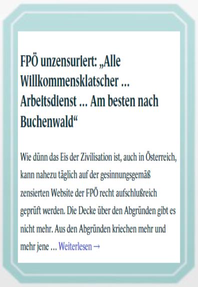Wahlkarte - Buchenwald