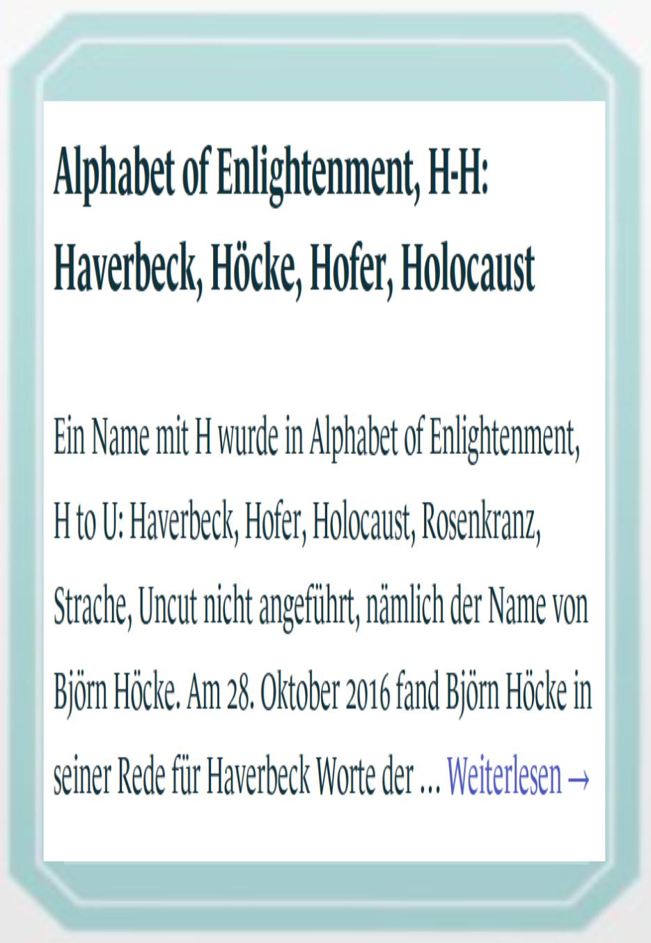 Wahlkarte - Hofer