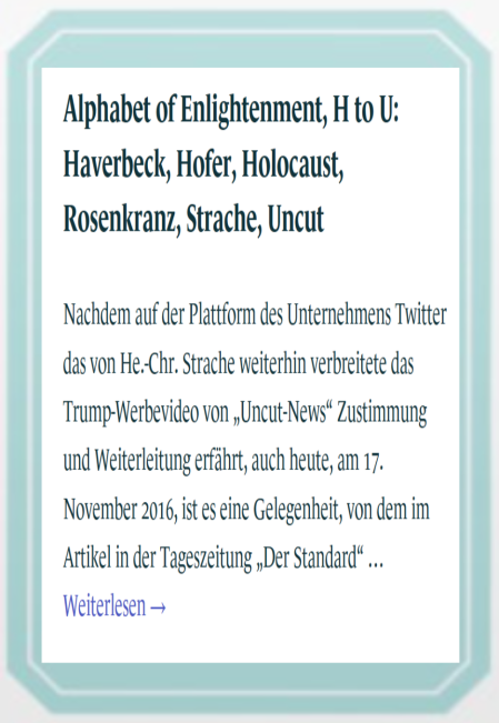 Wahlkarte Strache