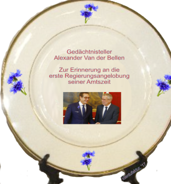 Alexander Van der Bellen Gedächtnisteller - Angelobung Bundesregierung in seiner Amtszeit