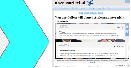 FPÖ unzensuriert Hofer - Strache - Peter_ 13-10-2017