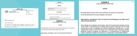Parlament - ÖVP-Justizminister - Begünstigung und massive Vernachlässigung