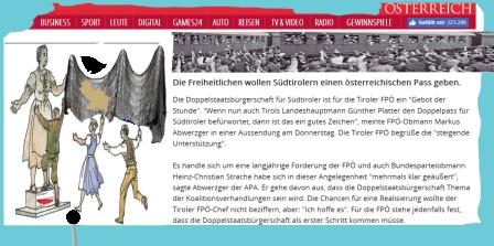Doppelstaatsbürgerschaft als erster Schritt - Südtirol - als zweiter Schritt Heim ins Österreich - FPÖ