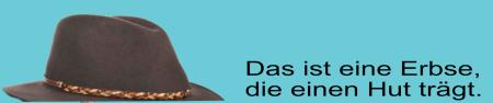Erbse mit Hut