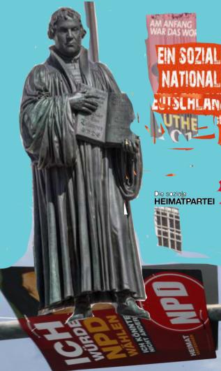 Martin Luther - Führer NPD - Heil Luder