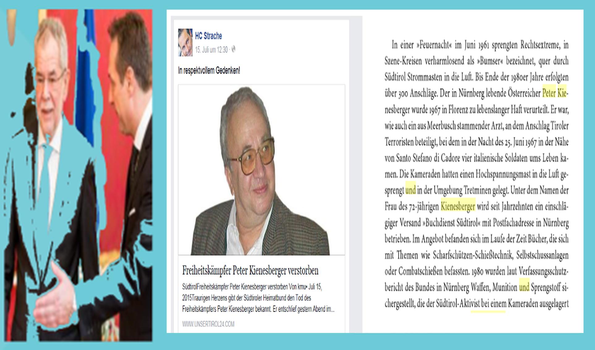 Strache - Kienesberger - In respektvollem Gedenken