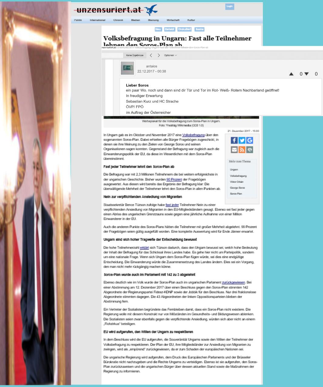 ÖVP FPÖ Regierung - Antisemitismus-Befragung in Ungarn gesinnungsgemäß kommentiert von FPÖ unzensuriert 21-12-2017