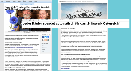 Heimatmode - Hilfswerk Österreich - FPÖ unzensuriert - Eine Täuschung