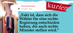 Kurier - Bereits zu Beginn sollen Wählende in Österreich Schuld sein an der rechtskonservativ-identitären Regierung