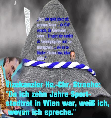 Österreich - Bundeskanzler ein Hütchenspieler - Vizekanzler ein Sportstadtrat der er nie war