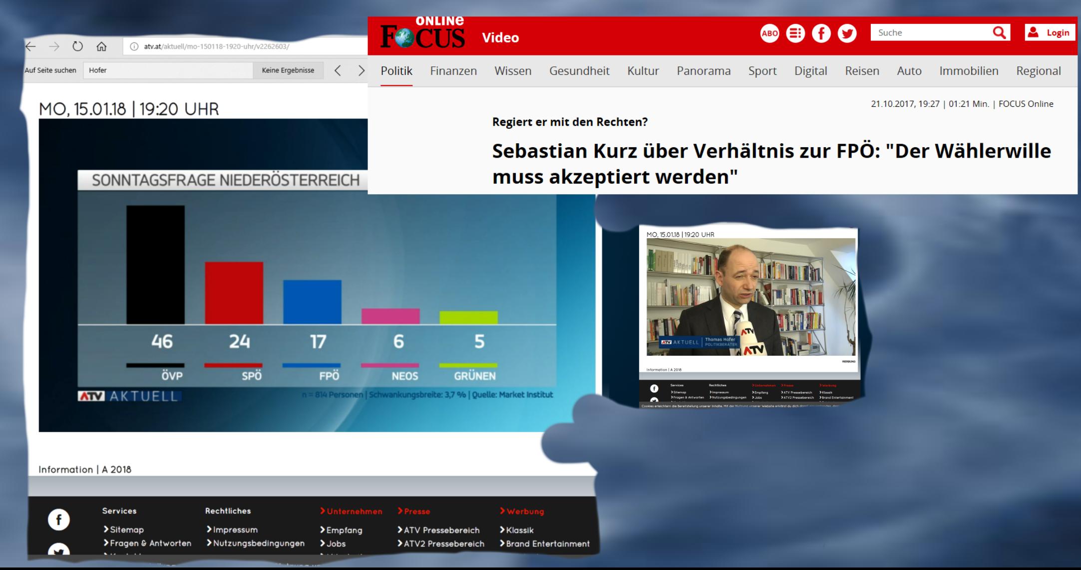 ÖVP Niederösterreich - viele Spielvarianten für eine Koalitiion - Thomas Hofer - Nachrichten ATV 15-01-2018