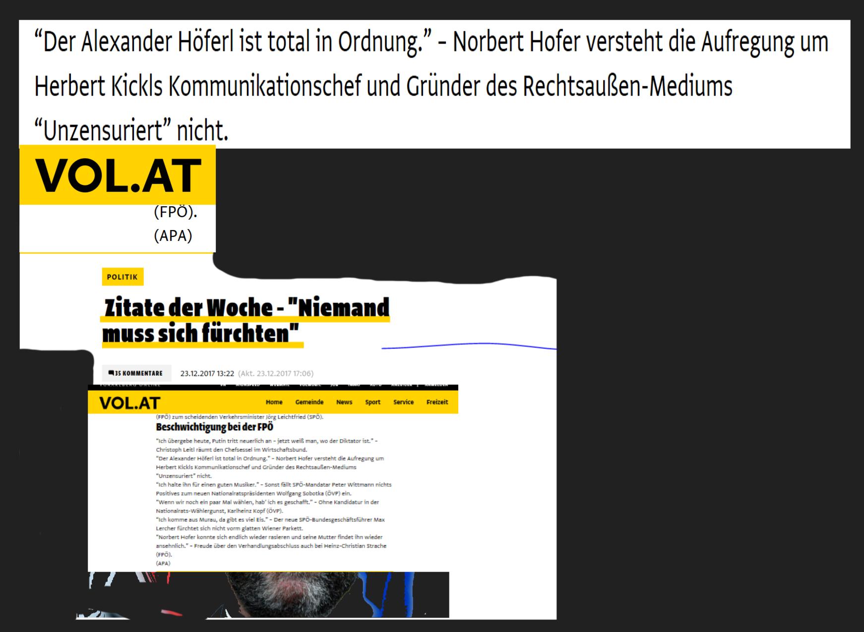 Für Norbert Hofer ist Nichtgründer Alexander Höferl total in Ordnung