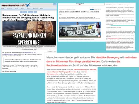 FPÖ unzensuriert Sommerfeld - Sellner - identitär - Paypal