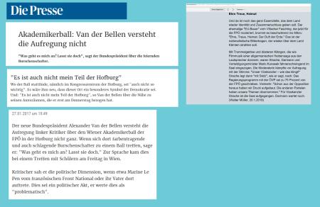 Glückliches Österreich - Einen Bundespräsidenten zu haben der genau weiß wann das Politische beginnt