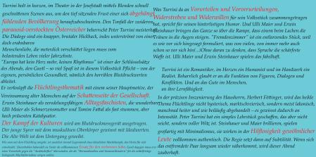 Salzburger Kleine Zeitung Standard Krone Tiroler Apa im Frendenzimmer von Peter Turrini