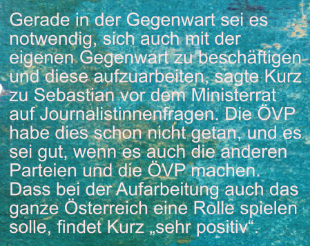 Sebastian Kurz - Aufarbeitung der Gegenwart