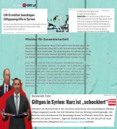 Assad - Kurz einbinden