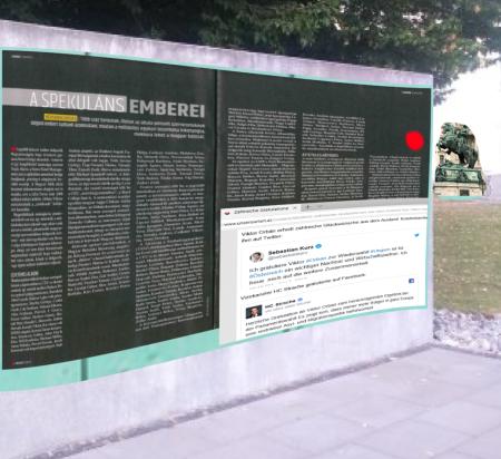 Gedenktafel zur Gegenwart - Kurz - Strache - Orban