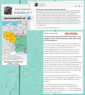 Unzensuriert - Volker Spielmann Guderian - Draußen vor der Tür - Steuerfrei