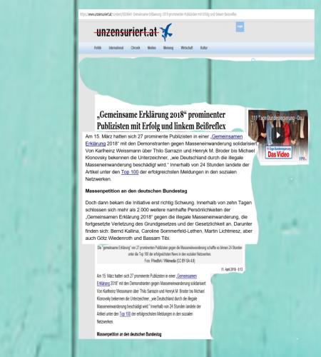 Unzensuriert - Weissmann - Broder - Sarrazin - Klonovsky - Lichtmesz