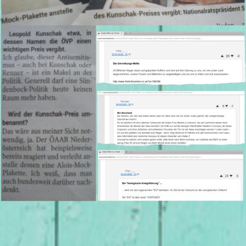 Wolfgang Sobotka - Antisemitismus und die Website der identitären Regierungspartei in Österreich