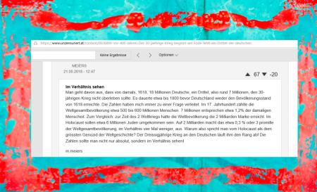 FPÖ unzensuriert - Holocaust - Genozid - Dreissigjährige Krieg - 22-05.2018